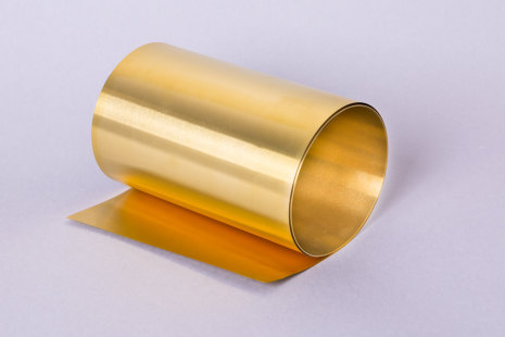 Brass metal foil band