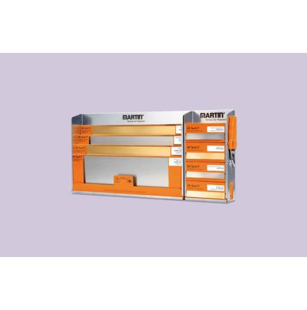 Shelf for metal foil